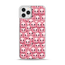 Load image into Gallery viewer, Pig Emoji Pattern 1 iPhone 11 Pro Case, White Plastic Case | Webluence.com