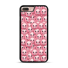 Load image into Gallery viewer, Pig Emoji Pattern 1 iPhone 7 Plus/8 Plus Case, Black Rubber Case | Webluence.com