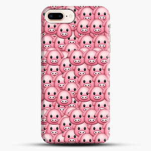 Pig Emoji Pattern 1 iPhone 7 Plus/8 Plus Case, Snap Case | Webluence.com