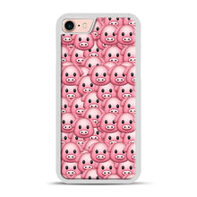 Load image into Gallery viewer, Pig Emoji Pattern 1 iPhone 7/8 Case.jpg, White Plastic Case | Webluence.com