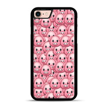 Load image into Gallery viewer, Pig Emoji Pattern 1 iPhone 7/8 Case.jpg, Black Rubber Case | Webluence.com