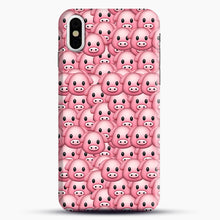 Load image into Gallery viewer, Pig Emoji Pattern 1 iPhone X/XS Case, Snap Case | Webluence.com