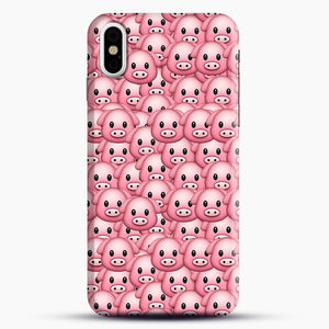 Pig Emoji Pattern 1 iPhone X/XS Case, Snap Case | Webluence.com