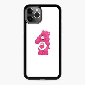 Pink Carebears iPhone 11 Pro Case, Black Rubber Case