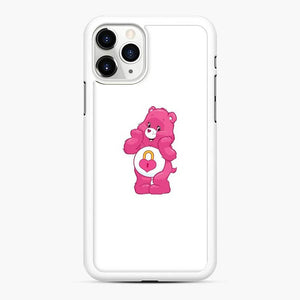Pink Carebears iPhone 11 Pro Case, White Rubber Case