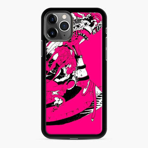 Pinky Death Fortnite iPhone 11 Pro Max Case, Black Rubber Case