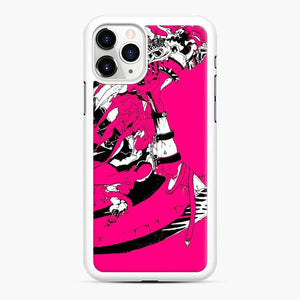 Pinky Death Fortnite iPhone 11 Pro Max Case, White Rubber Case
