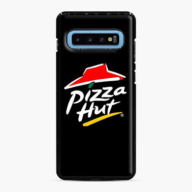Pizza Hut Logo White Samsung Galaxy S10 Case, Black Plastic Case | Webluence.com
