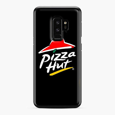 Pizza Hut Logo White Samsung Galaxy S9 Plus Case, Black Plastic Case | Webluence.com