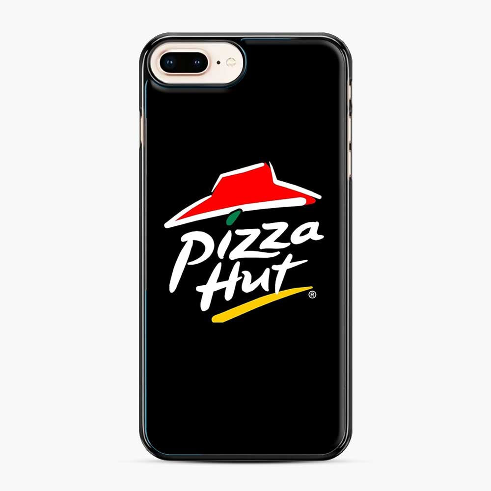 Pizza Hut Logo White iPhone 7 Plus/8 Plus Case, Black Plastic Case | Webluence.com