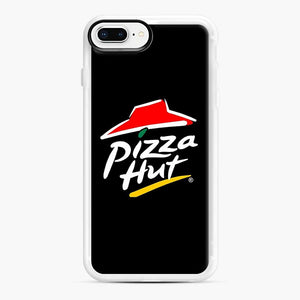 Pizza Hut Logo White iPhone 7 Plus/8 Plus Case, White Rubber Case | Webluence.com
