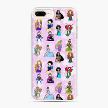 Load image into Gallery viewer, Princess One Upon A Time Fairytale friends Doodle collection iPhone 7 Plus/8 Plus Case, White Plastic Case | Webluence.com