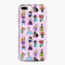 Load image into Gallery viewer, Princess One Upon A Time Fairytale friends Doodle collection iPhone 7 Plus/8 Plus Case, Snap Case | Webluence.com