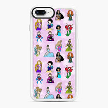 Load image into Gallery viewer, Princess One Upon A Time Fairytale friends Doodle collection iPhone 7 Plus/8 Plus Case, White Rubber Case | Webluence.com