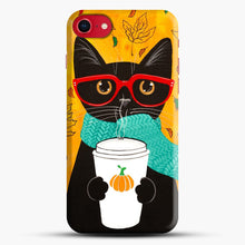 Load image into Gallery viewer, Pumpkin Coffee Cat iPhone 7/8 Case.jpg, Snap Case | Webluence.com