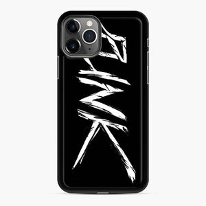Punk Modern Style iPhone 11 Pro Max Case, Black Rubber Case