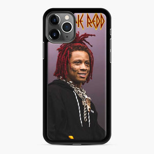 Purple Redd Tour 2020 Trippie iPhone 11 Pro Case, Black Rubber Case