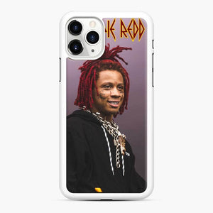 Purple Redd Tour 2020 Trippie iPhone 11 Pro Case, White Rubber Case