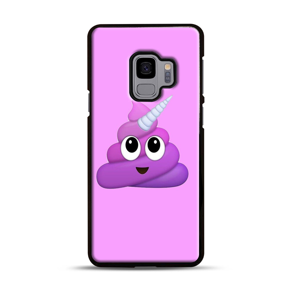 Purple Unicorn Poop Emoji Samsung Galaxy S9 Case, Black Plastic Case | Webluence.com