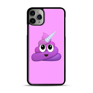 Purple Unicorn Poop Emoji iPhone 11 Pro Max Case.jpg, Black Plastic Case | Webluence.com