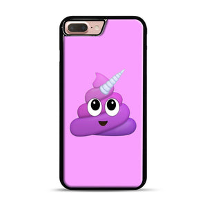 Purple Unicorn Poop Emoji iPhone 7 Plus/8 Plus Case, Black Plastic Case | Webluence.com