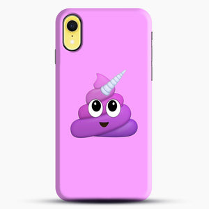Purple Unicorn Poop Emoji iPhone XR Case, Snap Case | Webluence.com