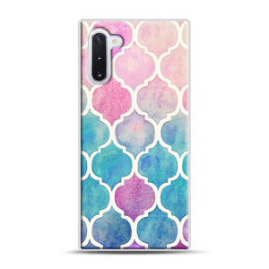 Rainbow Pastel Watercolor Samsung Galaxy Note 10 Case, White Plastic Case | Webluence.com