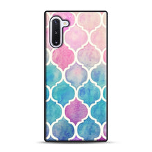Load image into Gallery viewer, Rainbow Pastel Watercolor Samsung Galaxy Note 10 Case, Black Rubber Case | Webluence.com