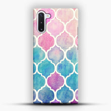 Load image into Gallery viewer, Rainbow Pastel Watercolor Samsung Galaxy Note 10 Case, Snap Case | Webluence.com