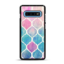 Load image into Gallery viewer, Rainbow Pastel Watercolor Samsung Galaxy S10 Plus Case, Black Plastic Case | Webluence.com