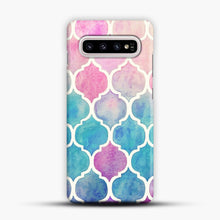 Load image into Gallery viewer, Rainbow Pastel Watercolor Samsung Galaxy S10 Plus Case, Snap Case | Webluence.com