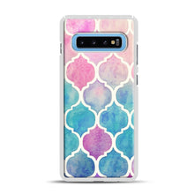 Load image into Gallery viewer, Rainbow Pastel Watercolor Samsung Galaxy S10 Plus Case, White Plastic Case | Webluence.com