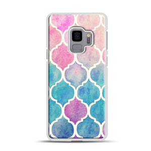 Rainbow Pastel Watercolor Samsung Galaxy S9 Case, White Plastic Case | Webluence.com