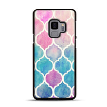 Load image into Gallery viewer, Rainbow Pastel Watercolor Samsung Galaxy S9 Case, Black Rubber Case | Webluence.com
