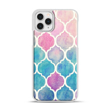 Load image into Gallery viewer, Rainbow Pastel Watercolor iPhone 11 Pro Case, White Plastic Case | Webluence.com