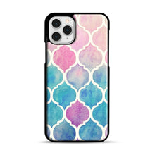 Load image into Gallery viewer, Rainbow Pastel Watercolor iPhone 11 Pro Case, Black Rubber Case | Webluence.com