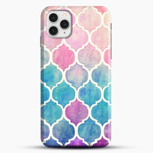 Load image into Gallery viewer, Rainbow Pastel Watercolor iPhone 11 Pro Case, Snap Case | Webluence.com