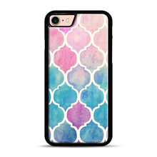 Load image into Gallery viewer, Rainbow Pastel Watercolor iPhone 7/8 Case.jpg, Black Plastic Case | Webluence.com