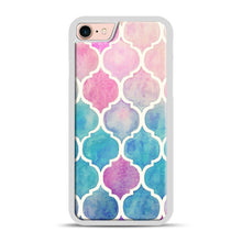 Load image into Gallery viewer, Rainbow Pastel Watercolor iPhone 7/8 Case.jpg, White Rubber Case | Webluence.com