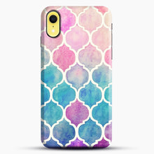 Load image into Gallery viewer, Rainbow Pastel Watercolor iPhone XR Case, Snap Case | Webluence.com
