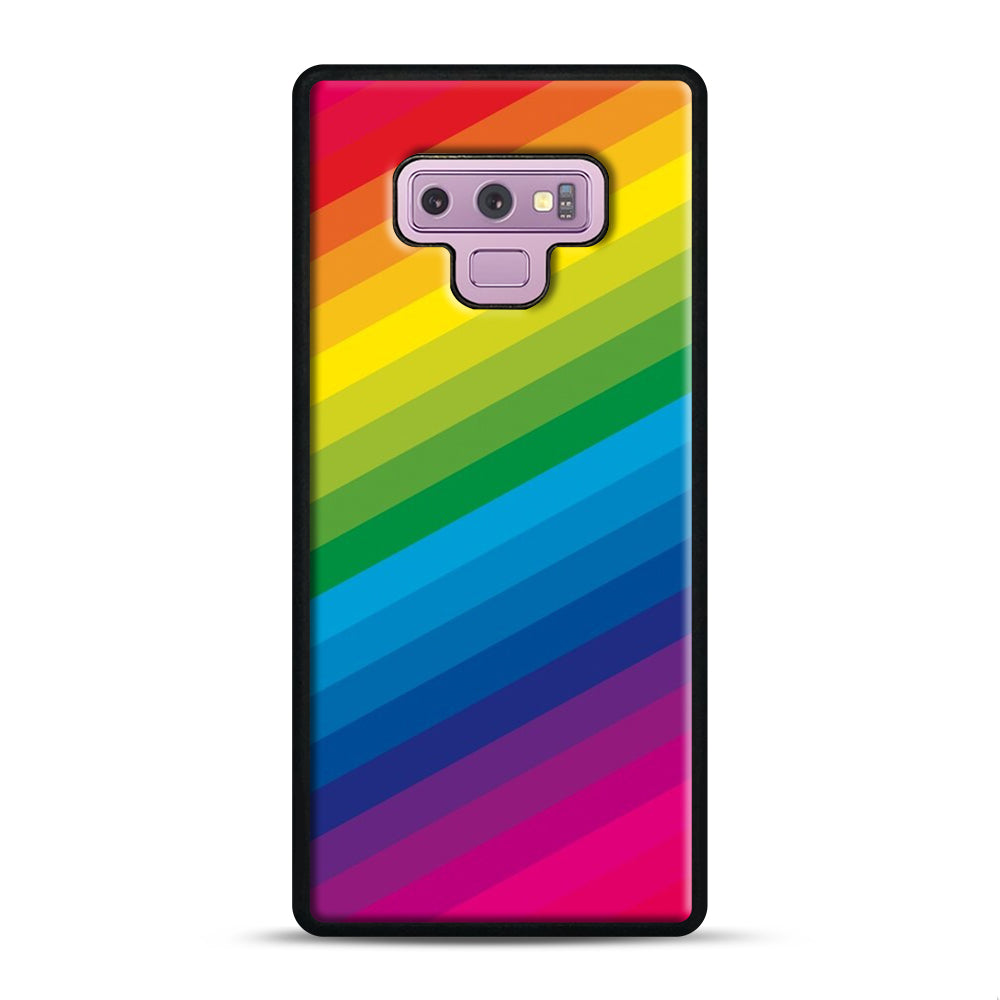 Rainbow Samsung Galaxy Note 9 Case, Black Plastic Case | Webluence.com