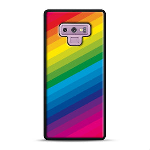 Rainbow Samsung Galaxy Note 9 Case, Black Rubber Case | Webluence.com