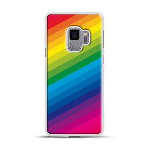 Rainbow Samsung Galaxy S9 Case, White Rubber Case | Webluence.com
