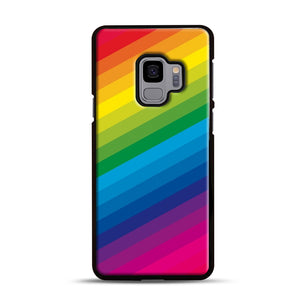 Rainbow Samsung Galaxy S9 Case, Black Rubber Case | Webluence.com