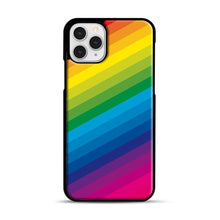 Load image into Gallery viewer, Rainbow iPhone 11 Pro Case, Black Rubber Case | Webluence.com
