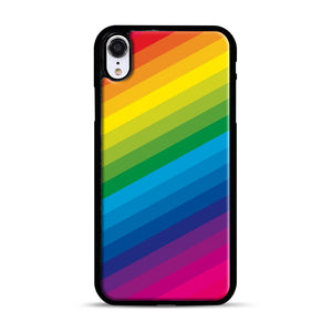 Rainbow iPhone XR Case, Black Rubber Case | Webluence.com