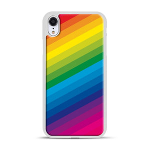 Rainbow iPhone XR Case, White Rubber Case | Webluence.com