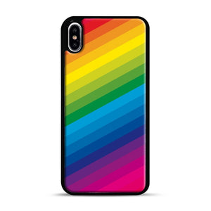 Rainbow iPhone XS Max Case, Black Rubber Case | Webluence.com
