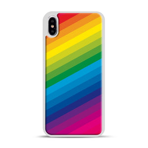 Rainbow iPhone XS Max Case, White Rubber Case | Webluence.com