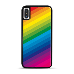 Rainbow iPhone X/XS Case, Black Rubber Case | Webluence.com